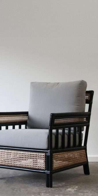 Bergere armchair black_LS