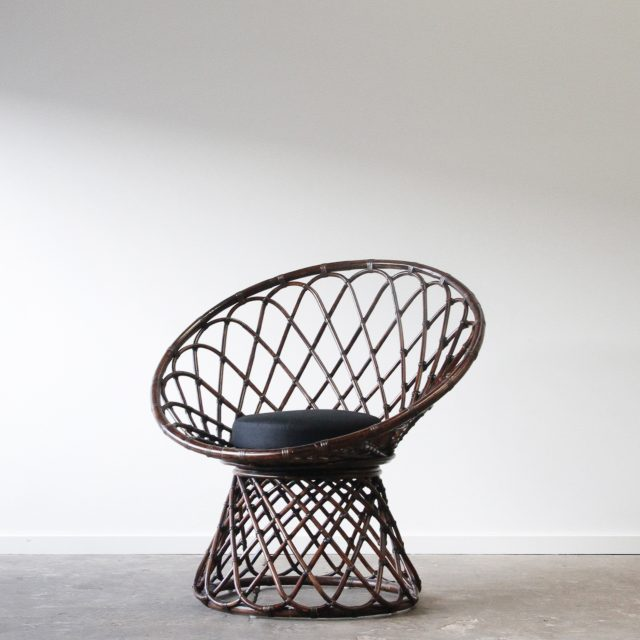 Rattan feature chair