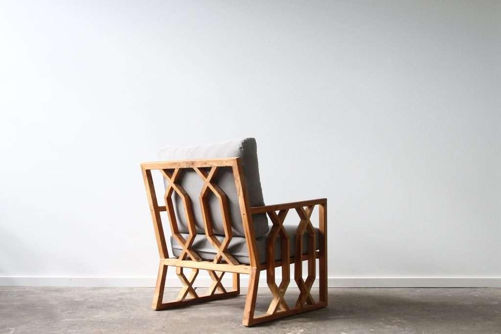 Teak armchair
