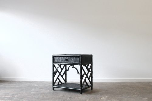 Cane bedside table