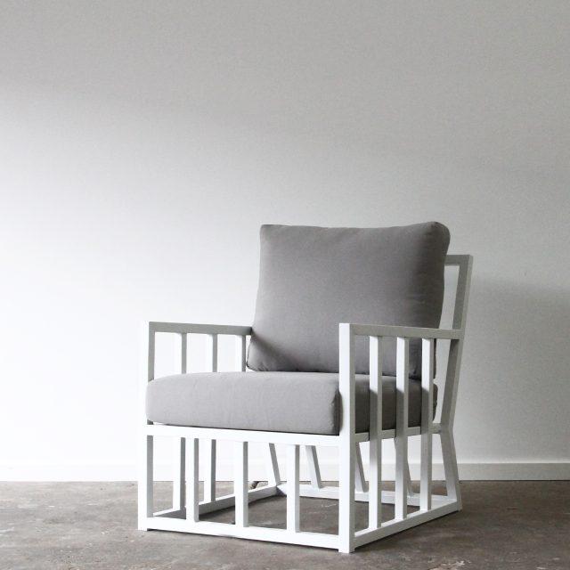 Aluminium armchair