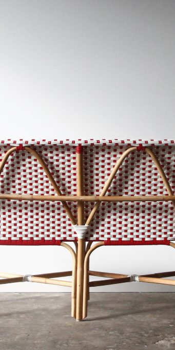 Bordeaux bench red and white back_LS