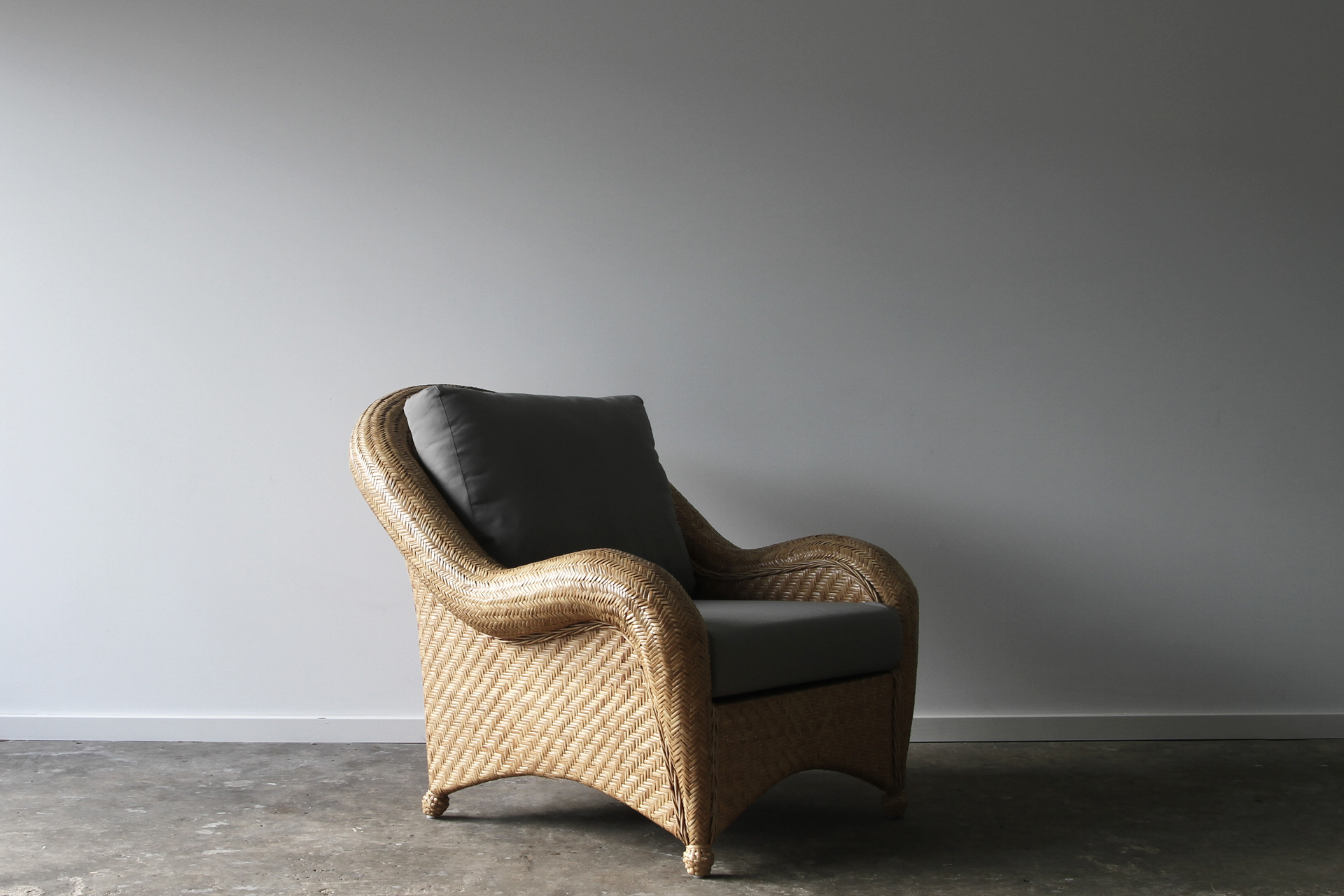 California rattan armchair