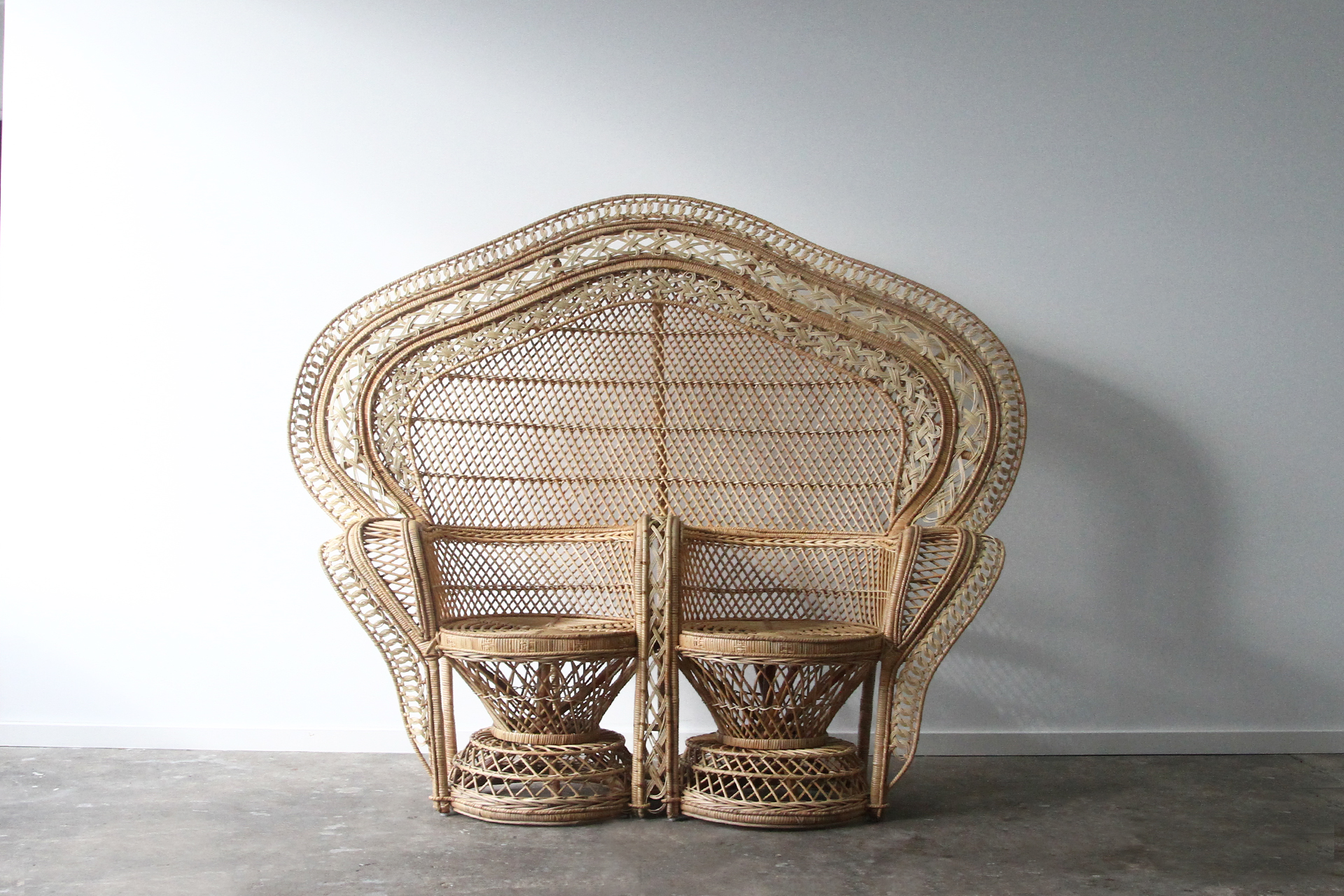 Double Peacock Rattan Commercial Furniture Supplier