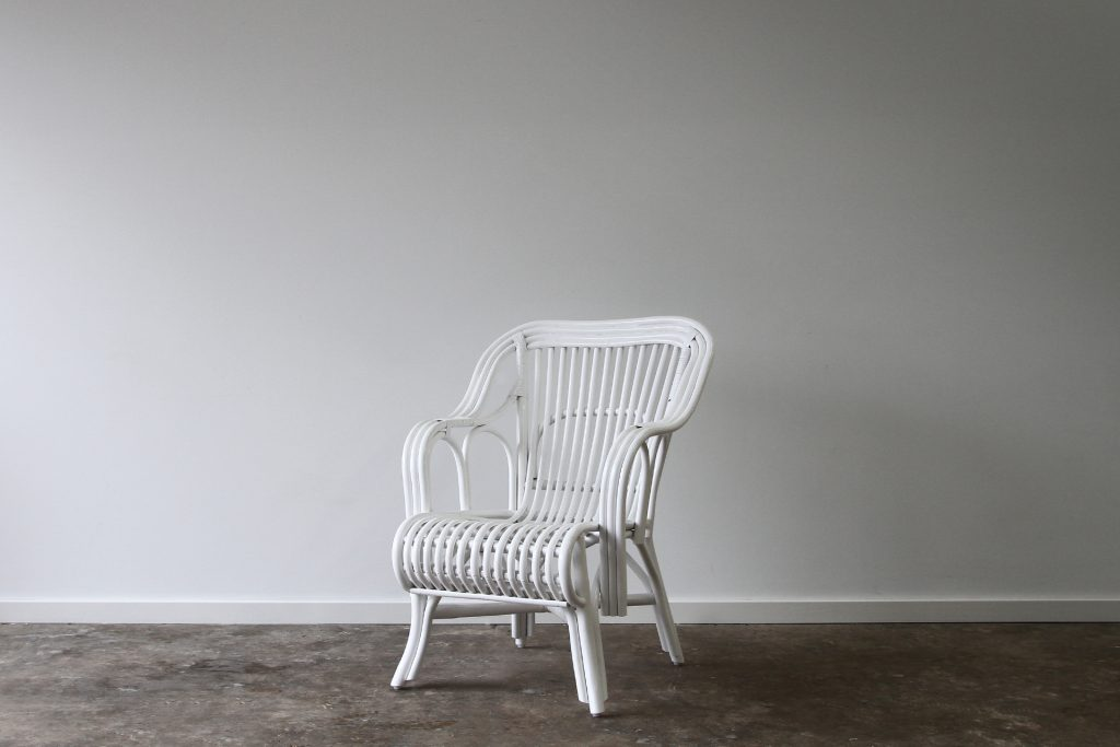 Split cane occasional chair