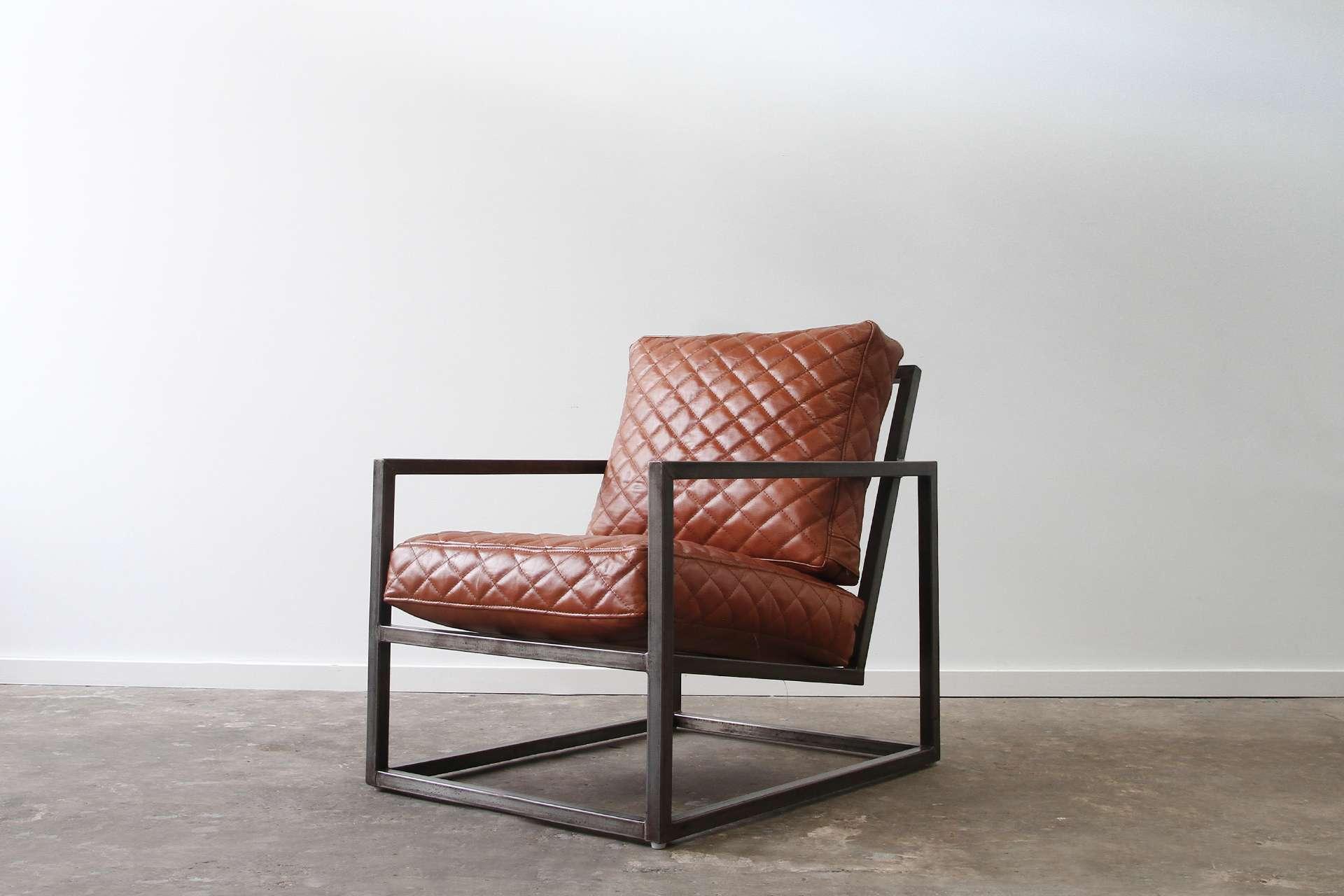 Steel box armchair