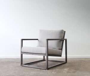 Box metal armchair_LS