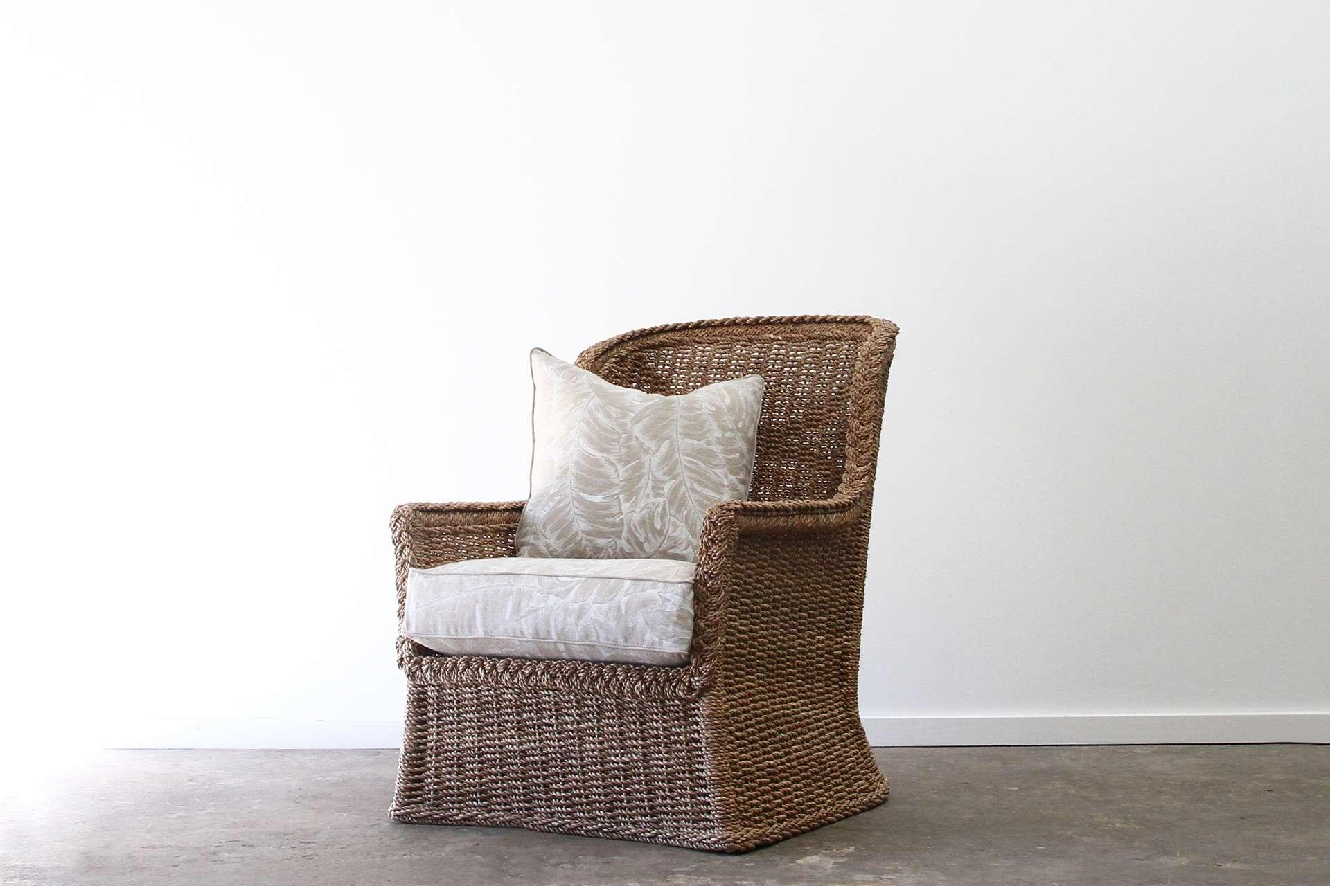 Abaca rope armchair