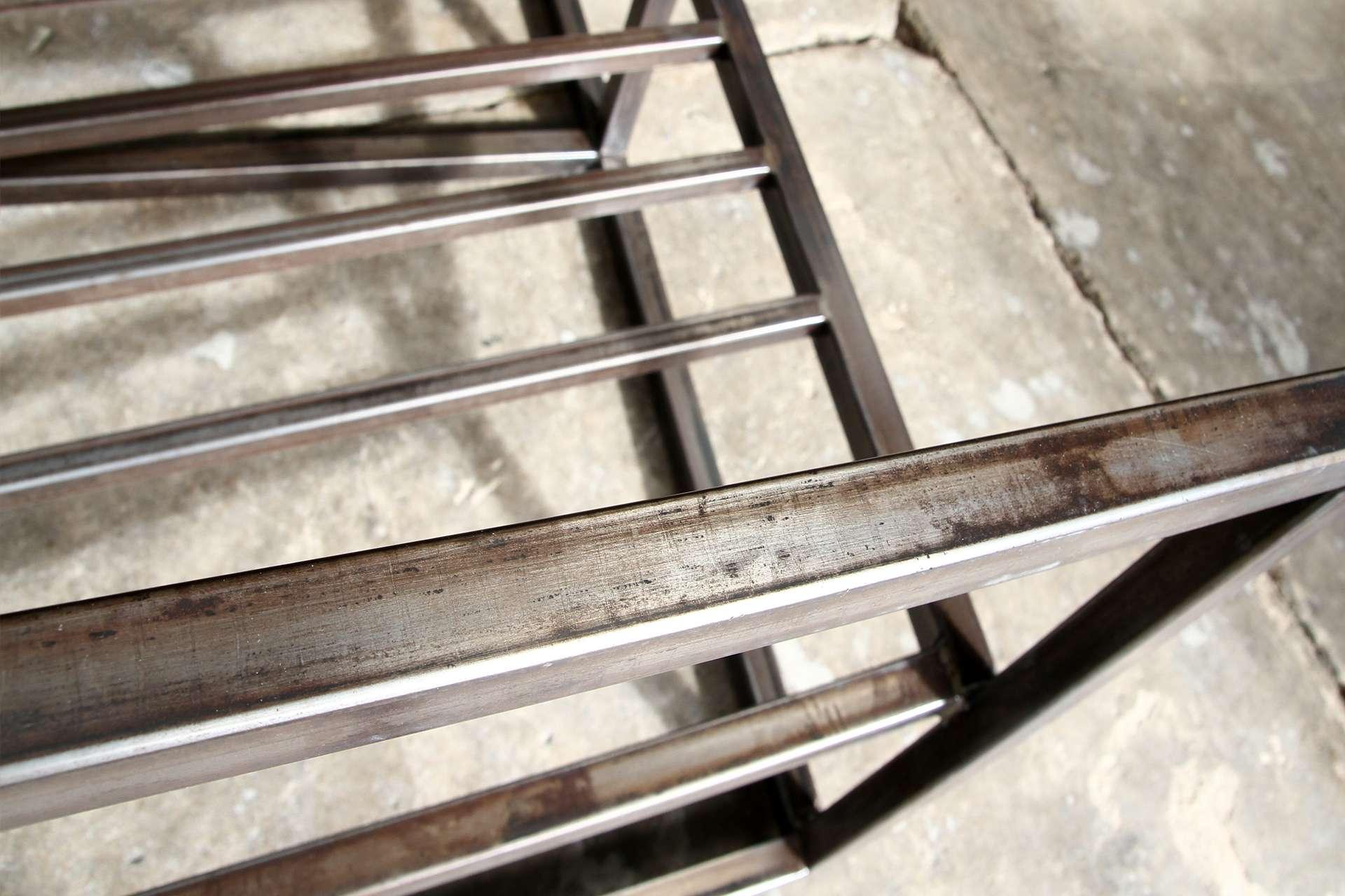 Box Steel In Raw Finish Lincoln Brooks Furniture