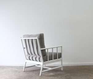 San carlos armchair aluminium white back_LS