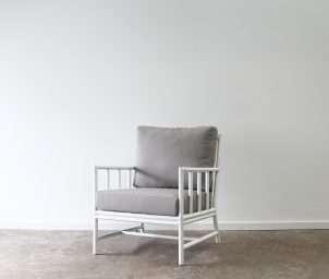 San carlos armchair aluminium white_LS
