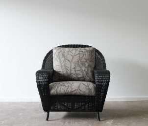 Raffles armchair black_LS