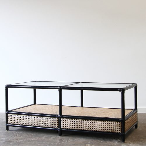 Side table rattan commercial furniture supplier for Table bergere