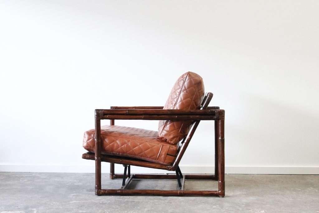 Box armchair rattan