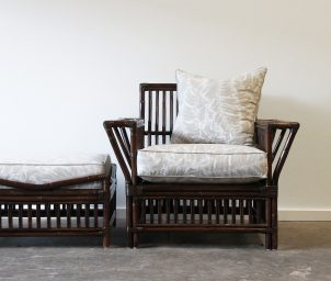 President armchair with ottoman_LS
