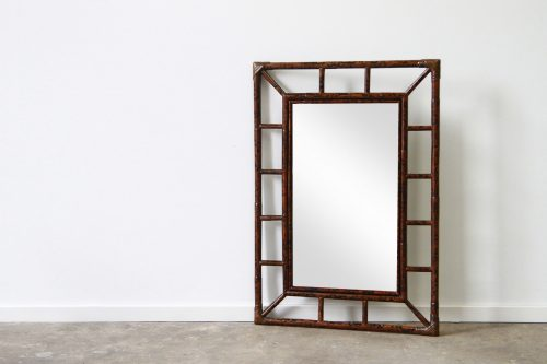 St Marlo Rattan mirror