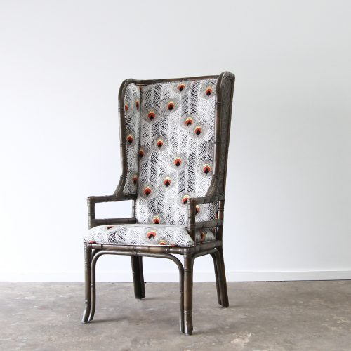 Highback rattan chair