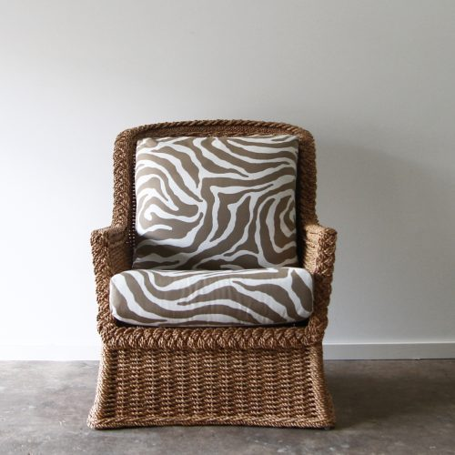 Rope woven armchair
