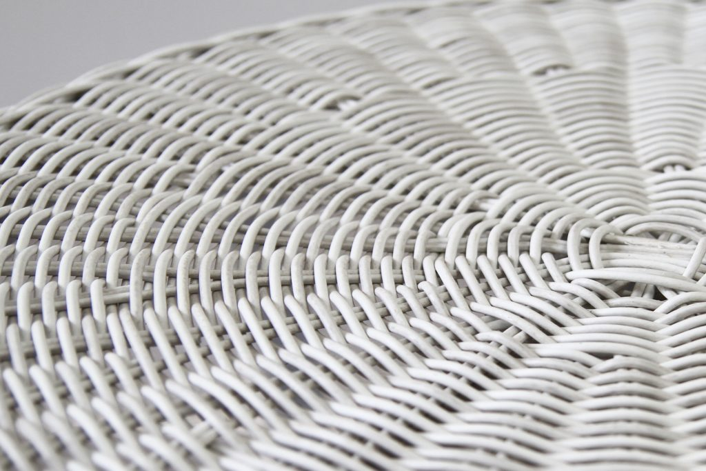 White wash wicker outdoor weave