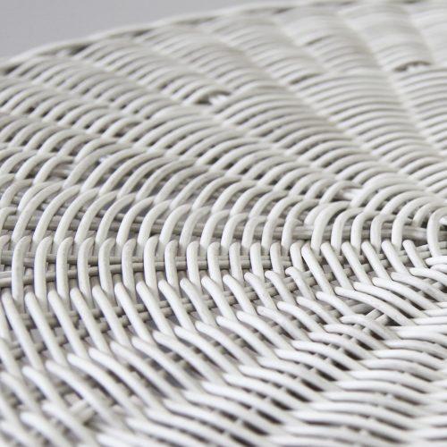White wash wicker outdoor weave
