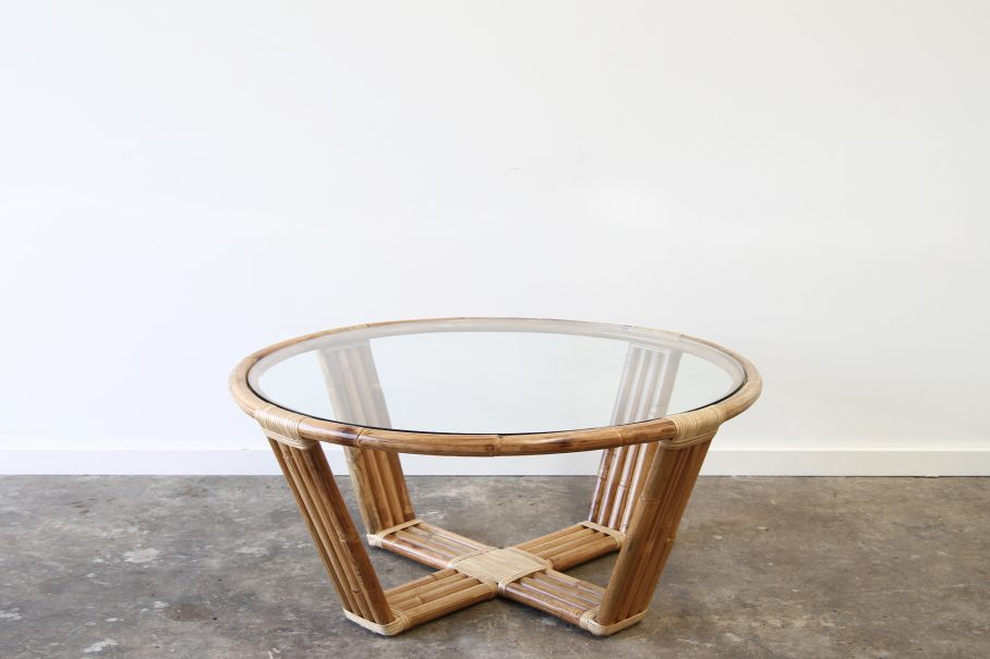 Rattan modern coffee table