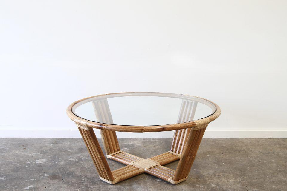 Rattan modern coffee table