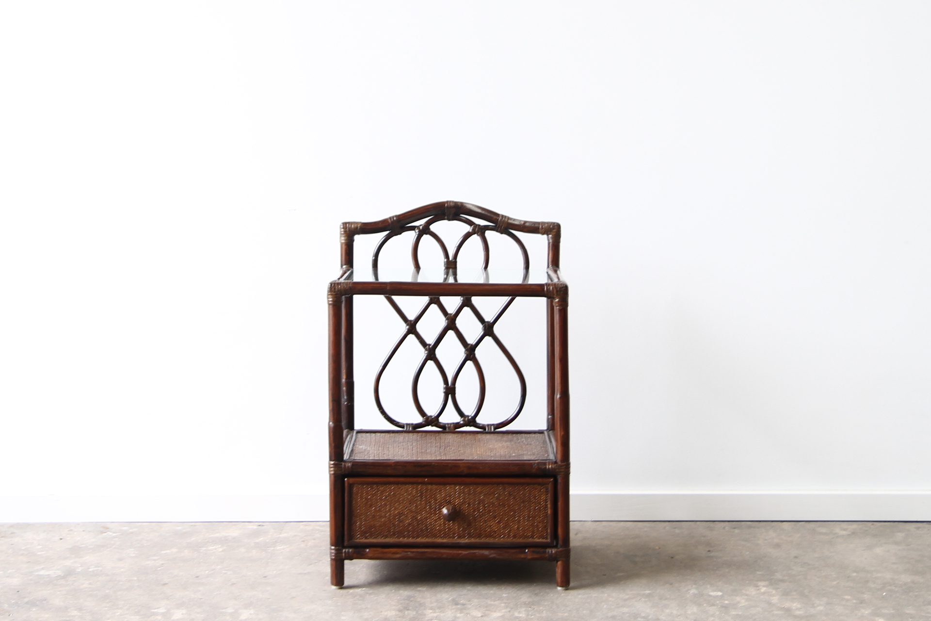 Rattan bedside table