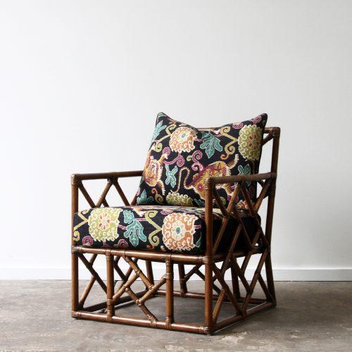 Parquet Rattan armchair