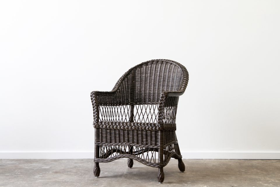 Rattan wicker carver chair