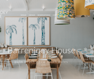 Barrenjoey House Wicker dining chairs