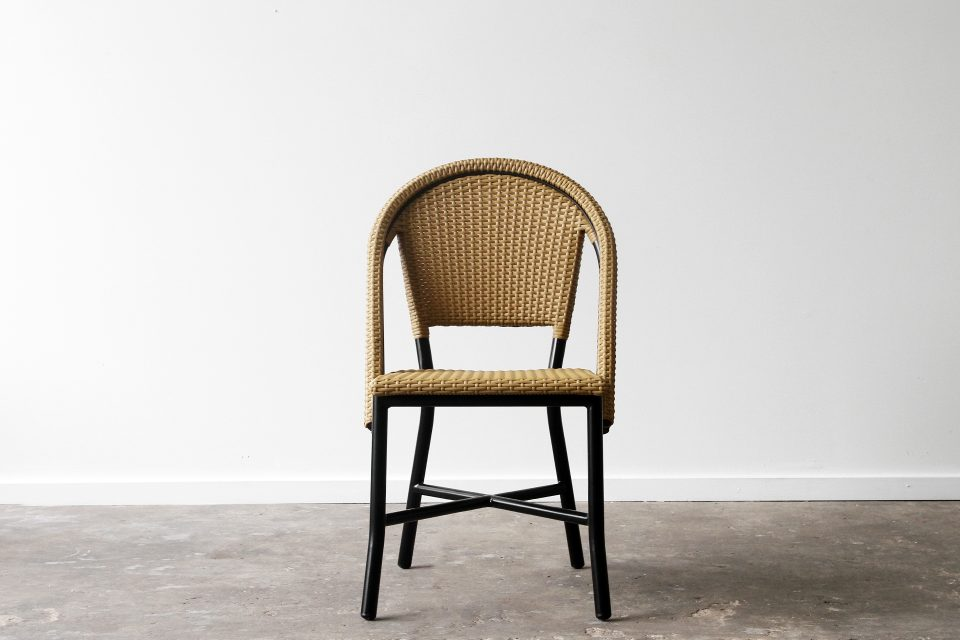 Cafe outdoor aluminium side chair