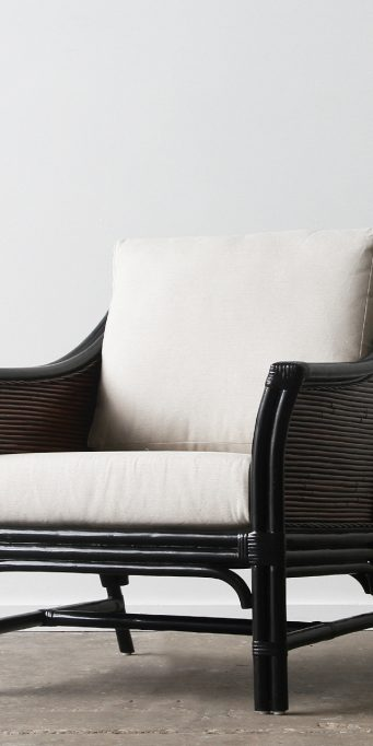 Hartford armchair_brown wash_black)LS
