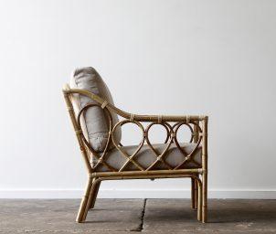 Loop armchair_Natural_side_LS