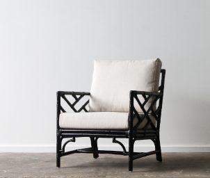 Palm Springs armchair_Black_LS