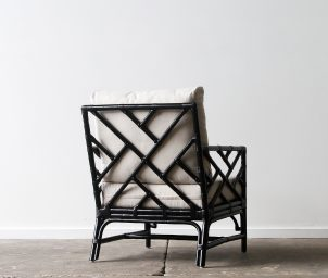 Palm Springs armchair_Black_back_LS