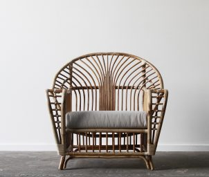 Royal palm armchair_front_natural_LS