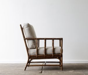 San Carlos armchair Brown wash side_LS