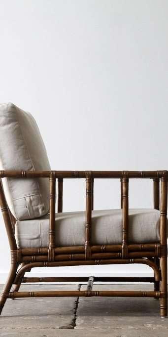 San Carlos armchair Brown wash side_LS