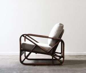 Style 473 armchair dark brown wash_side_LS