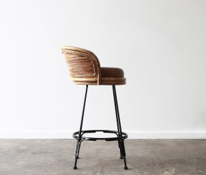 Sake Laminate barstool wside ith leather_LS