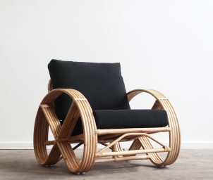 Portifino armchair_black_LS