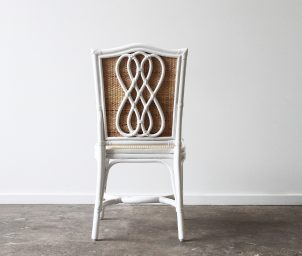 infinity side chair woven seat back