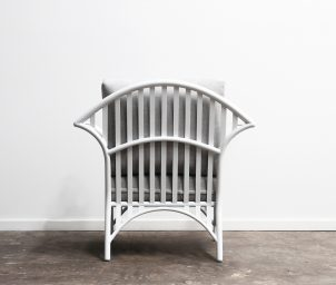 Westhampton Armchair Outdoor_White_back_LS