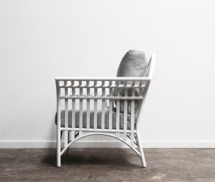 Westhampton Armchair Outdoor_White_side_LS